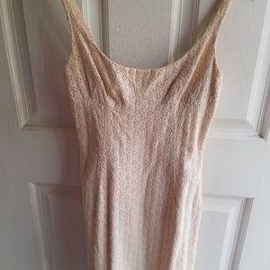 V.S. Eyelet Lace Sheath Dress Size 2